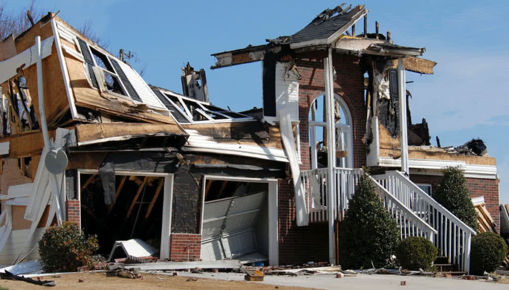 Destroyed house. Did you have insurance?